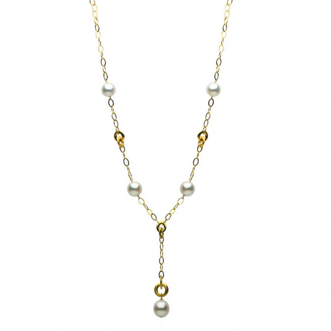 14K Yellow Gold 12-14mm South Sea Pearl Necklace - N005194