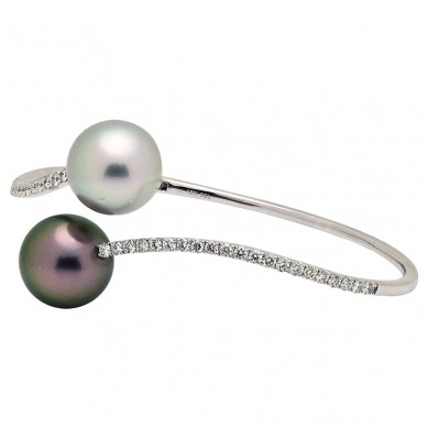 Pearl Bangle (1.03 ct. tw.) - B003016-2 - Small Image
