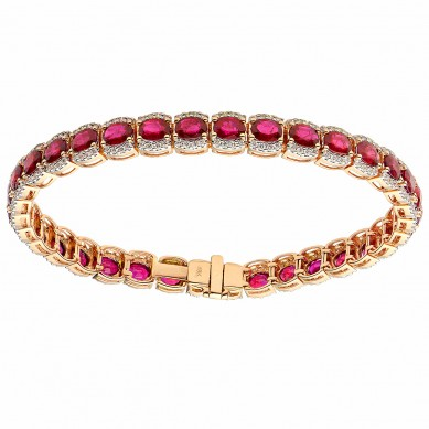 Ruby & Diamond Bracelet (2.15 ct. tw.) - B003768 - Small Image