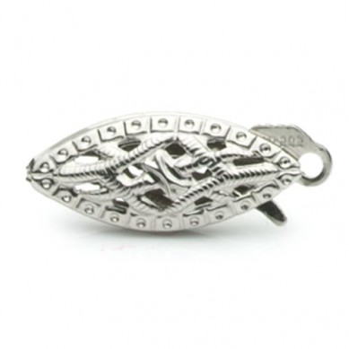 14K White Gold Fishhook Clasp - C110 - Small Image