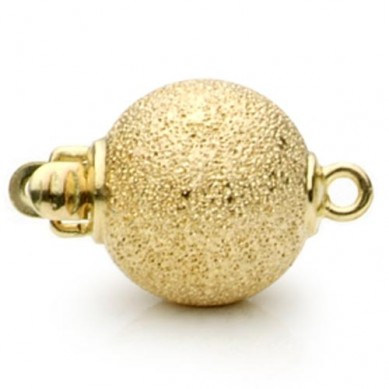 14K Yellow Gold Diamond Cut Ball Clasp - C214 - Small Image