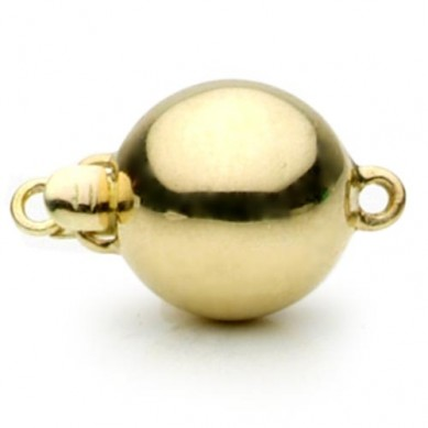 14K Yellow Gold Ball Clasp - C216 - Small Image