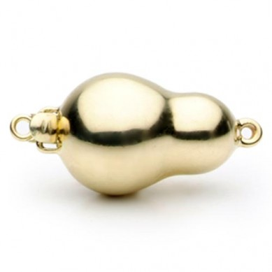 14K Yellow Gold Baroque Ball Clasp - C228 - Small Image