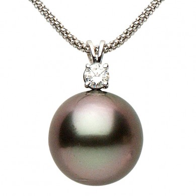 Pearl and Diamond Pedant (0.25 ct. tw.) - D001012-1 - Small Image