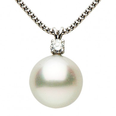 Pearl and Diamond Pedant (0.25 ct. tw.) - D001012-2 - Small Image