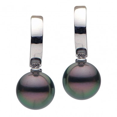 Pearls and Diamond Earrings - E002319-1 - Small Image