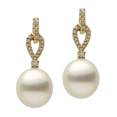 Pearls and Diamond Earrings (0.29 ct. tw.) - E002328-1 - Small Image