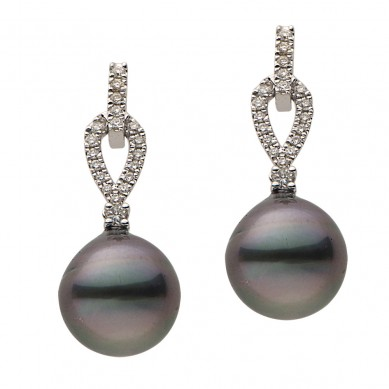 Pearls and Diamond Earrings (0.29 ct. tw.) - E002328 - Small Image