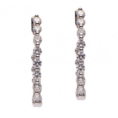 Diamond Hoop Earrings (0.95 ct. tw.) - E003614 - Small Image