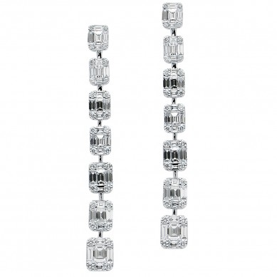 Diamond Earrings (3.39 ct. tw.) - E003742 - Small Image