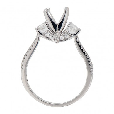 Diamond Semi Mount Ring (0.58 ct. tw.) - M003609 - Small Image