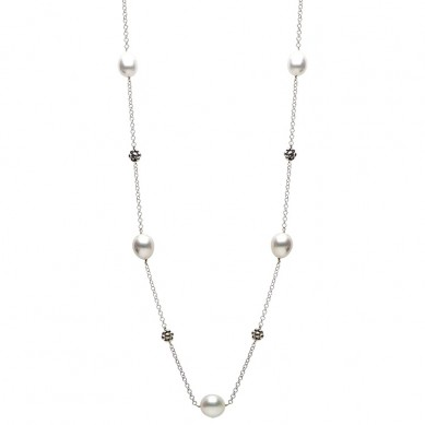 Pearl Tin Cup Necklace - N005002 - Small Image