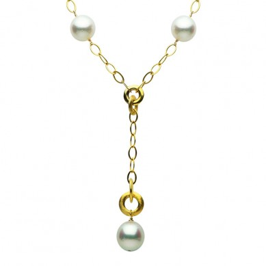 14K Yellow Gold 12-14mm South Sea Pearl Necklace - N005194 - Small Image