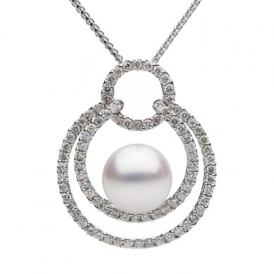 Pearl and Diamond Pendant (1.05 ct. tw.) - P002008 - Small Image