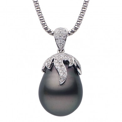 Pearl and Diamond Pendant (0.83 ct. tw.) - P002051-1 - Small Image