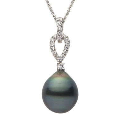 Pearl and Diamond Pendant (0.23 ct. tw.) - P002121 - Small Image