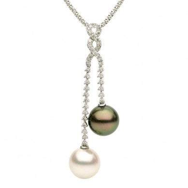 Pearl and Diamond Pendant (0.71 ct. tw.) - P002138 - Small Image