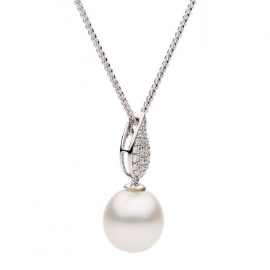 Pearl and Diamond Pendant (0.18 ct. tw.) - P002190 - Small Image