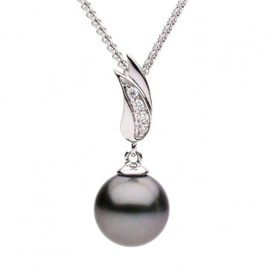 Pearl and Diamond Pendant (0.03 ct. tw.) - P002192 - Small Image