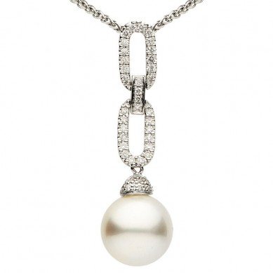 Pearl and Diamond Pendant (0.28 ct. tw.) - P002201 - Small Image
