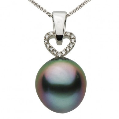 Pearl and Diamond Pendant (0.06 ct. tw.) - P002227 - Small Image