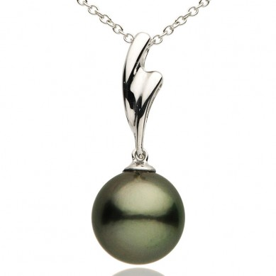 Pearl and Diamond Pendant - P002289 - Small Image