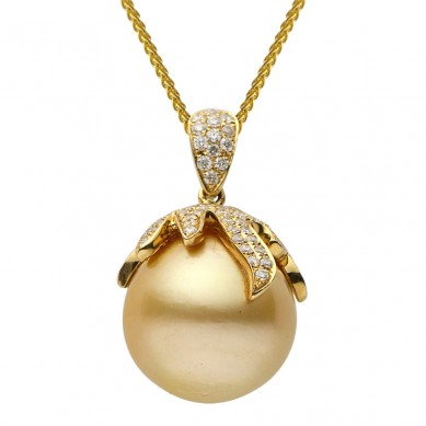 Pearl and Diamond Pendant (0.75 ct. tw.) - P002355 - Small Image