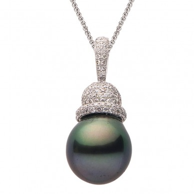 Pearl and Diamond Pendant (0.57 ct. tw.) - P002372 - Small Image