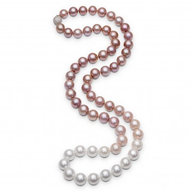 Pearl Ombre Necklace - PJ002070 - Small Image