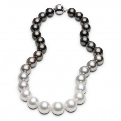 Pearl Ombre Necklace - PJ002139 - Small Image
