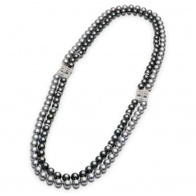 Double Pearl Necklace (4.60 ct. tw.) - PJ002173 - Small Image