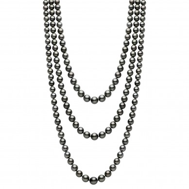 Triple Tahitian Necklace (1.80 ct. tw.) - PJ002189 - Small Image