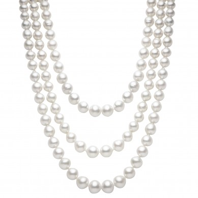 Triple Pearl Necklace (1.80 ct. tw.) - PJ002205 - Small Image