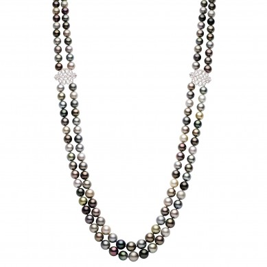 Pearl Necklace (1.20 ct. tw.) - PJ002223 - Small Image