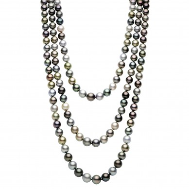 Triple Pearl Necklace (1.80 ct. tw.) - PJ002271