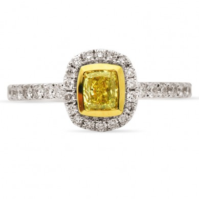 Yellow Diamond Ring (0.82 ct. tw.) - R003259-40 - Small Image