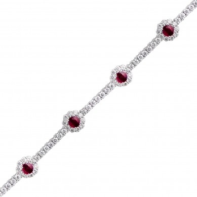 Diamond & Ruby Bracelet (7.27 ct. tw.) - RB003642 - Small Image