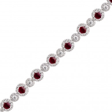 Diamond & Ruby Bracelet (12.67 ct. tw.) - RB003643 - Small Image