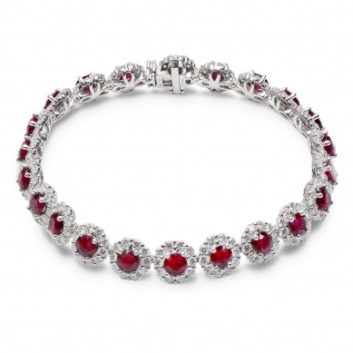 Diamond & Ruby Bracelet (16.67 ct. tw.) - RB003644 - Small Image