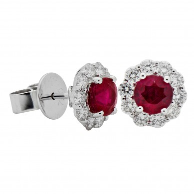 Ruby and Diamond Earrings (1.72 ct. tw.) - RE003626 - Small Image