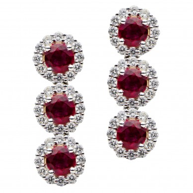 Ruby and Diamond Earrings (4.78 ct. tw.) - RE003627 - Small Image