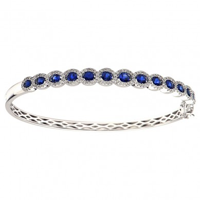 Sapphire and Diamond Bangle (2.85 ct. tw.) - SB003514 - Small Image