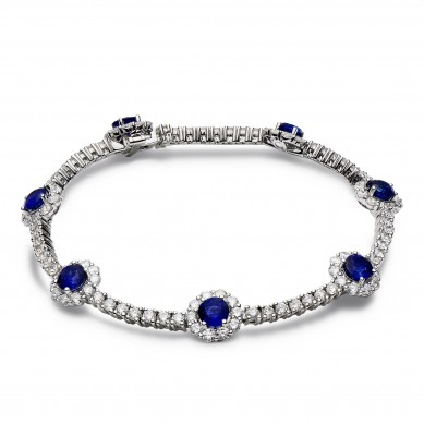 Sapphire and Diamond Bracelet (10.23 ct. tw.) - SB003638 - Small Image