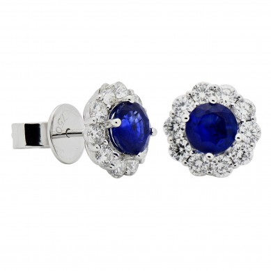 Sapphire and Diamond Earrings (2.24 ct. tw.) - SE003624 - Small Image
