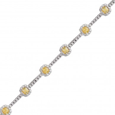 Fancy Colored Diamond Bracelet (8.22 ct. tw.) - YB003628 - Small Image