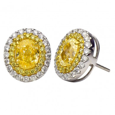 Fancy Colored Diamond Earrings (5.71 ct. tw.) - YE003501 - Small Image