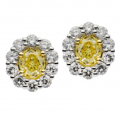 Fancy Colored Diamond Earrings (1.75 ct. tw.) - YE003620 - Small Image