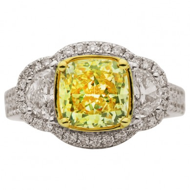 Fancy Colored Diamond Ring (3.65 ct. tw.) - YR003364 - Small Image