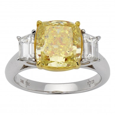 Fancy Colored Diamond Ring (5.04 ct. tw.) - YR003399 - Small Image