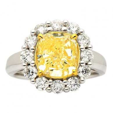 Fancy Colored Diamond Ring (4.72 ct. tw.) - YR003402 - Small Image